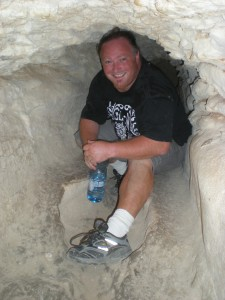 Me in a tunnel at Beit Guvrin