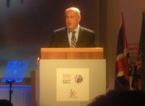 Israeli Prime Mininister Binyamin Netanyahu addressing the International Tourism Conference - Jerusalem 2011