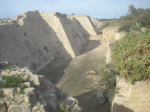 Moat of Crusader City of Caesarea