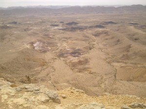 Large Makhtesh, Makhtesh HaGadol from Mt. Avnon