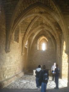 Crusader gate vault Caesarea gothic arch corbel