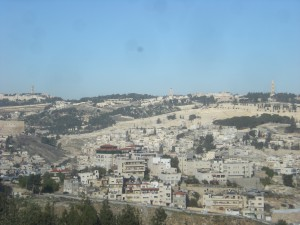 Mount of Olives, Jerusalem. Seen from Haas Promenade. Tayelet.