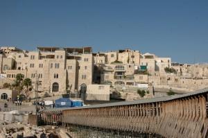Mughrabi Bridge, Jerusalem, Old City. Israel tour guide. Fun Joel Haber.