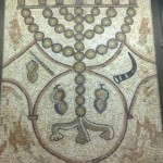 Menorah Mosaic. Or Torah Tunisian Synagogue, Akko. Tourism. Tour Guide. Fun Joel Haber.