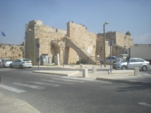 Akko / Acre city wall. Fun Joel Israel tour guide.