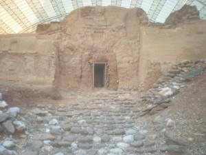 Tel Dan Arched Gate. Fun Joel Israel Tour Guide.