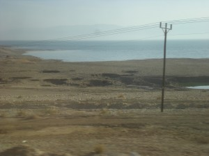 Dead Sea Sinkholes. Israel. Fun Joel tour guide.