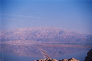 View Across the Dead Sea. Fun Joel Haber. Israel Tour Guide.