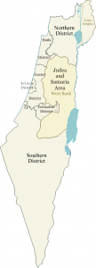 A map of the regions in Israel