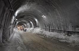 Under construction tunnel for Jerusalem Train