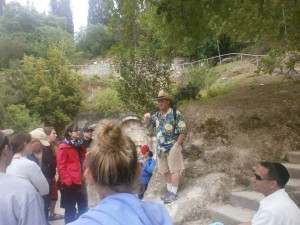 Israel Tour Guide Joel Haber with a group