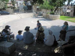 Israel Tour Guide Joel Haber guiding in Even Yisrael