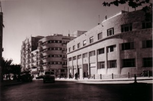 On the corner of King George and Hillel Streets, the building where the Knesset met in Jerusalem.