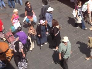 Shoppers at Shuk Machane Yehuda
