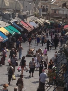 The shuk from above