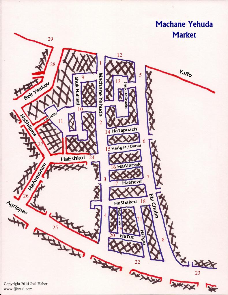 Machane Yehuda Map
