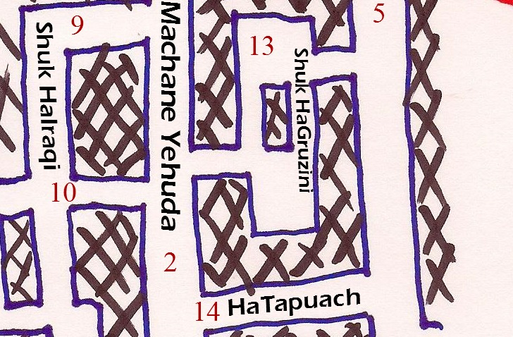 All You Want to Know About Machane Yehuda - Part 6: THE Map