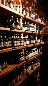 Wall of bottles of Israel Beer